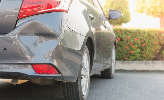 Deal with dents when you experience a car accident?